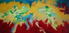 """""""Isamigoma"""", 2014 Öl auf Leinwand/Holz, 150 x 75 cm ©"""