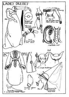 Medieval pattern for woman