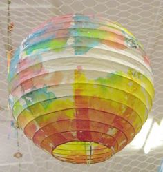 great way to decorate my old wedding lanterns and decorate the classroom at the beginning of the year when it's a little bare!