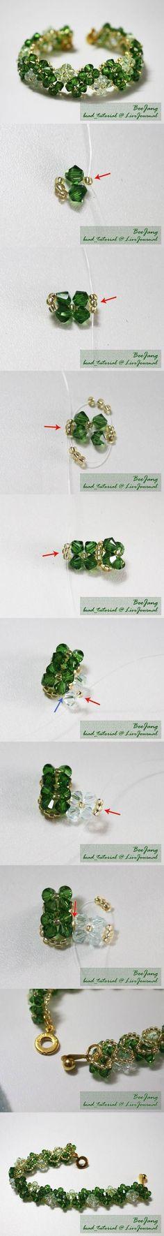 DIY Transparent Beads Bracelet by Jersica