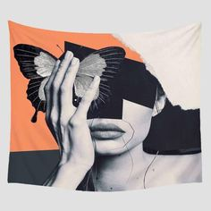 Eclectic Portrait Women Faces Wall Tapestry Collection - 150x210cm / YM-1055