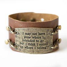 Where I Belong Bracelet - Dark Chestnut / Brass