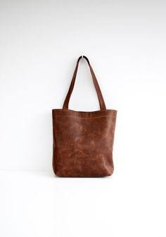 Classic leather tote bag in dark brown by ForestBags on Etsy https://www.etsy.com/listing/230060959/classic-leather-tote-bag-in-dark-brown
