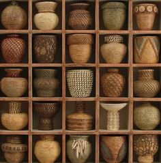 Basketry to Sculpture -- Click through to read about and see more of Lissa Hunter's work..fascinating!