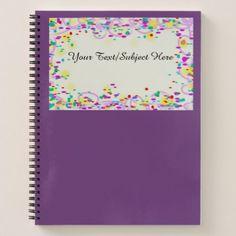 Confetti Custom Notebook - fun gifts funny diy customize personal