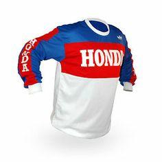 Vintage Style Honda Motocross Jersey MX Enduro AHRMA motorcycle