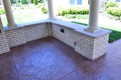 like the stamped concrete
