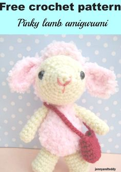 This  crochet Pinky lamb amigurumi-free pattern is so soft and cuddly follow through easy pattern with very detail step by step photo.