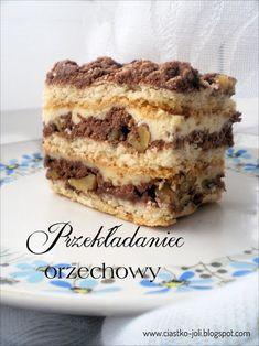 Przekładaniec orzechowy Lemon Cheesecake Recipes, Chocolate Cheesecake Recipes, Polish Desserts, Polish Recipes, Homemade Cakes, My Favorite Food, Sweet Treats, Good Food, Food And Drink