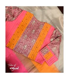 Hi Fashion, Fashion Outfits, Bandhani Saree, Fancy Blouse Designs, Indian Designer Outfits, Blouse Patterns, Cotton Blouses, Blouse Styles, Printed Blouse