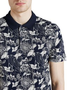 Image result for ALL OVER PRINTED POLO INDIGO