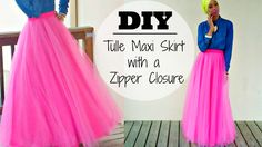 DIY | Tulle Maxi Skirt | With a Zipper AWESOME IDEA FOR DIY EID SKIRT