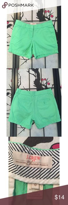 J.Crew Lime Green Shorts. Measurements - Waist 15in / Inseam 4 1/2in / Length 13in J. Crew Shorts