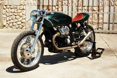 """Welcome at Café Racers United! This is the place to learn, to be inspired and to enjoy Cafe Racers like this Moto Guzzi Cafe Racer """"Mondego"""" by Tricana Motorcycles Moto Guzzi Motorcycles, Vintage Motorcycles, Scrambler, Custom Motorcycles, Moto Cafe, Cafe Bike, Motorcycle Style, Motorcycle Outfit, Motorcycle News"""