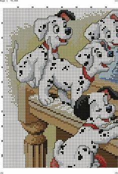 Dalmatian Got Treats Cross Stitch Bookmarks, Cross Stitch Baby, Cross Stitch Animals, Disney Stitch, Disney Cross Stitch Patterns, Cross Stitch Designs, Cross Stitching, Cross Stitch Embroidery, Embroidery Patterns
