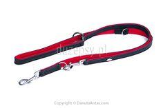 Ekskluzywna smycz regulowana dla psa ze skóry 13-18 mm x 200 cm
