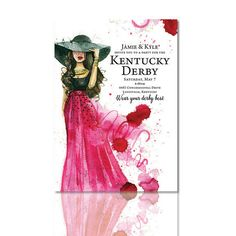Kentucky derby themed bridal shower Invitation from Crosstown Press