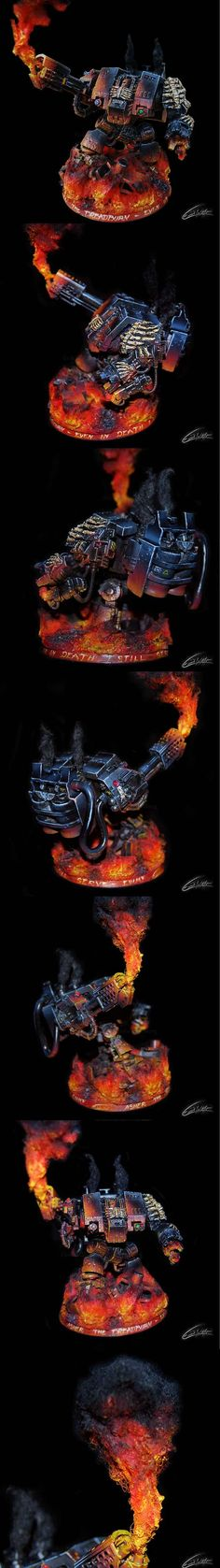 "Warhammer 40k E.W.M.F Painting & Building - Asher ""Dreadburn"" Dreadnought conversion. - Imgur"