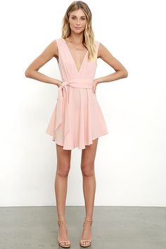 Finders Keepers Collide Peach Skater Dress 8dd9a862f