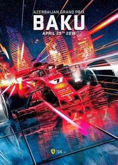 Formula One Azerbaijan Grand Prix Poster The post Formula One Azerbaijan Grand Prix Poster appeared first on ferrari. Grand Prix, Gifts For Campers, Camping Gifts, Abu Dhabi, Nascar, Stock Car, Automobile, Ferrari F1, Lamborghini Aventador