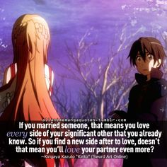 Sword Art Online, Aww Kirito is soo sweet (even if I don't particularly like Asuna)!!