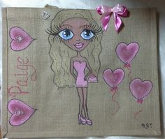 Personalised jute bags, hand painted jute bags. large hand painted jute bags.handpainted jute bags, custom painted jute bags, beach  bags, by Aligri on Etsy
