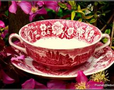 Items similar to Exquisite and rare, collectable and well sought after finest example of Palissy pottery two-handled cup and saucer made in England c. 1957 on Etsy Etsy Vintage, Vintage Items, English Pottery, Pottery Marks, Tea Ceremony, Etsy Handmade, Cup And Saucer, Etsy Store, Red And White