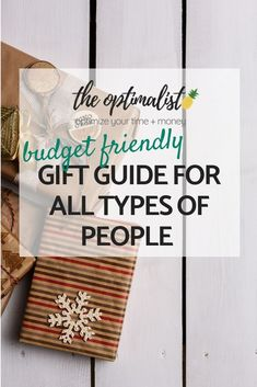 """It can sometimes be a challenge to get gifts for the different people in your life, such as the """"I don't need a gift"""" person or the """"get me anything and I'll love it"""" person. In some cases, we have people in our lives who are willing to tell us exactly what they want, but for the most part, it's a guessing game. No need to fear! This guide has got you covered :)"""