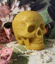 Cera de vela cráneo estilo celta gran tamaño