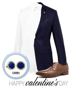 """TESLA BLUE CUFF LINKS"" by crashjewelry ❤ liked on Polyvore featuring Yves Saint Laurent, Ted Baker, Julius Marlow and Deborah Lippmann"