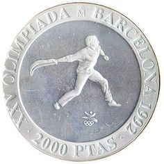 2000 Pesetas 1990 Juegos Olimpicos Barcelona'92 Cesta Punta.