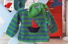 Kinder-Pullover mit Halstuch und Fingerpuppen