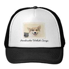 #Pembroke Welsh Corgi Trucker Hat - #pembroke #welsh #corgi #puppy #dog #dogs #pet #pets #cute #pembrokewelshcorgi