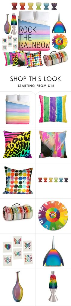 """Rock the Rainbow"" by christycn ❤ liked on Polyvore featuring interior, interiors, interior design, home, home decor, interior decorating, Le Creuset, Tweedmill, NeXtime and Bruck"