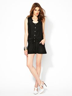 Silk Drawstring Cut-Out Romper by Kieran Dallison, the CFDA/Gilt All-Star Scholarship Winner only on Gilt.com!