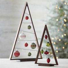 Wooden Triangle Christmas Tree