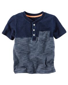 Kid Boy Indigo Striped Henley from Carters.com. Shop clothing & accessories from a trusted name in kids, toddlers, and baby clothes.