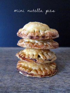 mini nutella pies!
