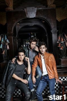 Yoo Yun Suk, Son Ho Joon and B1A4 Baro - @Star1 Magazine October Issue 14  Reply 1994's gathering <3