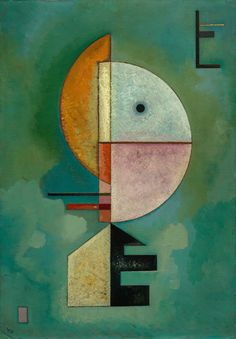 Vasily Kandinsky, Upward, October 1929. Oil on cardboard, 27 1/2 x 19 1/4 inches (70 x 49 cm)