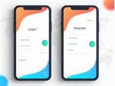 Minimal Login & Register Screen minimal gradients recent designs mobile design latest dribbble ux ui ios iphonex register login Ios App Design, Mobile App Design, Design Web, Login Page Design, Mobile Login, App Login, Web Mobile, Android App Design, Android Ui