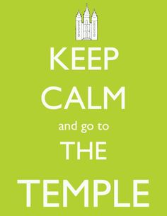 This one I will repin because I swear as soon as I start feeling panicy, the first thing I do is literally run to the temple!