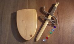 Wooden Toy Sword & Shield Set