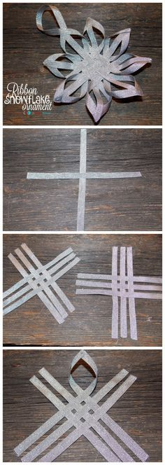 Ribbon Snowflake Ornament - The Ribbon Retreat Blog...also a cute idea for a snowflake hair clip.