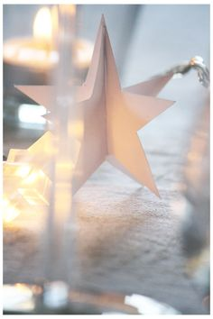 paper stars and fairy lights