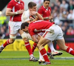 Wales - George North punishes England player. Welcome to rugby BOY!