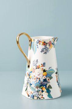 Botanica Pitcher by Anthropologie in Gold, Serveware Diy Vintage, Vintage China, Vintage Teacups, Serveware, Tableware, Kitchenware, Sushi Set, Kitchen Collection, Mugs