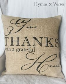 Hymns and Verses: Give Thanks With a Grateful Heart Pillow Cover
