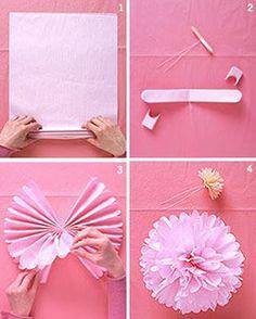 Decoracion para Fiestas: Ideas de color rosa para niñasm