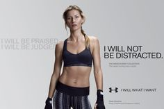 sport campaign From last to elastic: Model Gisele Bundchen, is one of the five stars of Under Armour. Irene Kim, Under Armour Bra, Under Armour Sport, Gisele Bundchen, Sports Advertising, Advertising Ideas, Creative Advertising, Brazilian Supermodel, This Girl Can